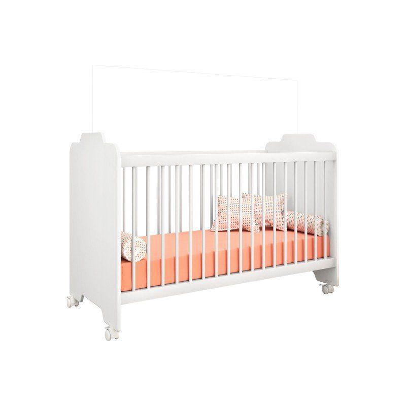Berço com Grade Fixa e Rodízios Ternura - PN Baby