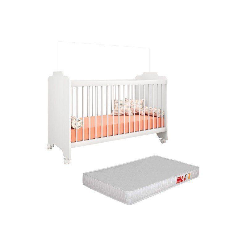 Berço Ternura com Colchão D18 130x60x10 Inmetro - PN Baby