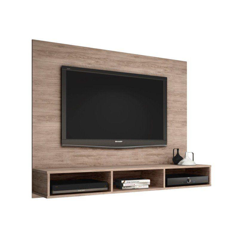 Painel Home Suspenso para TV de até 50 Polegadas Quartzo - Móveis Leão