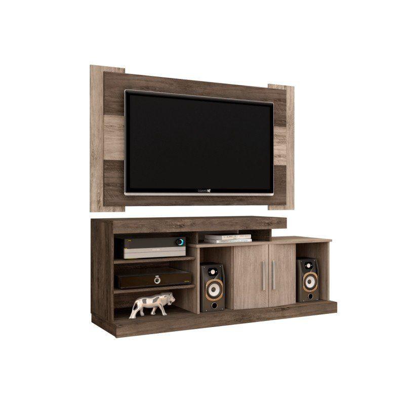 Rack 150 cm Itapema com Painel para TV de até 50 Polegadas Viena - Móveis Leão