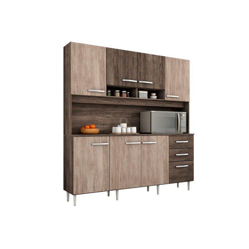 Cozinha Compacta 8 Portas Sofia - Móveis Leão