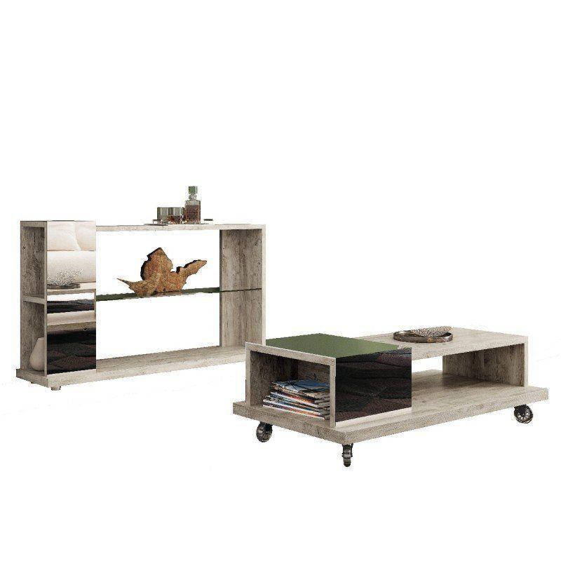Aparador Idealy com Mesa de Centro Bella - HB Móveis