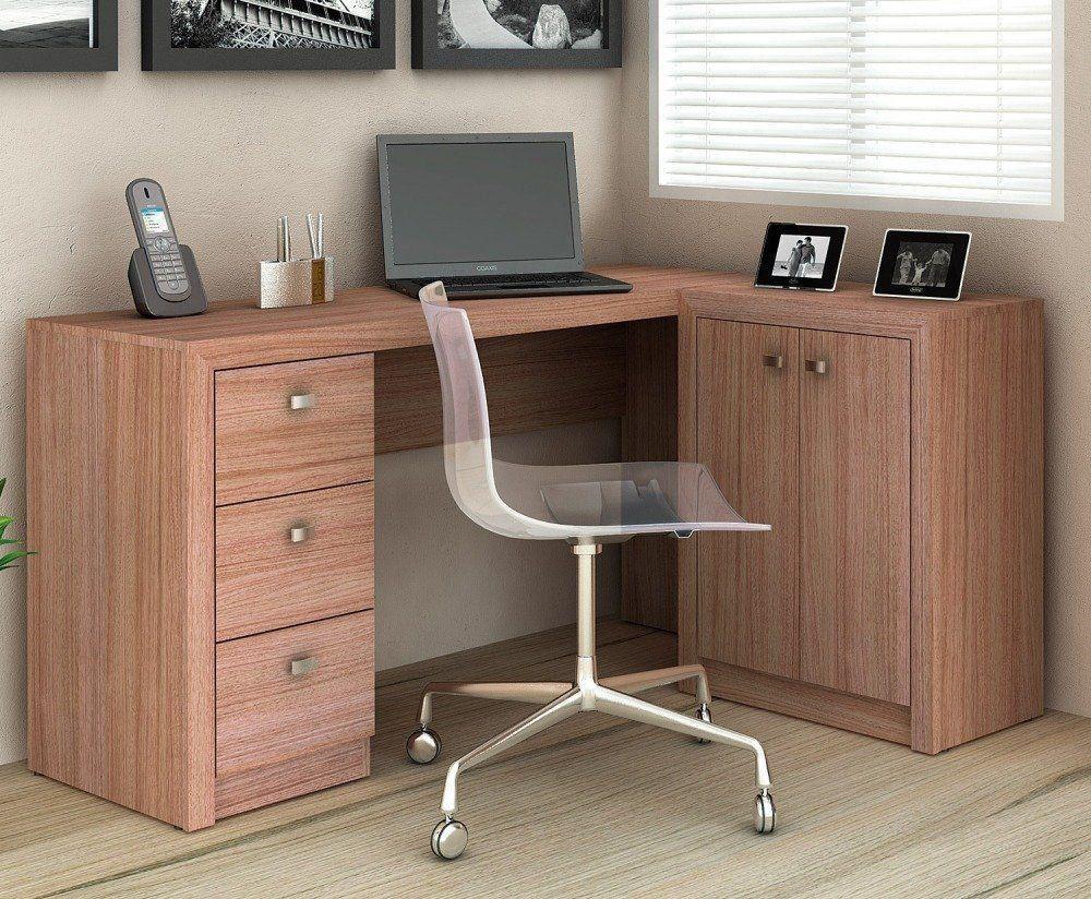 Mesa para Home Office com Gavetas e 02 Portas ME4100 - Tecno Mobili