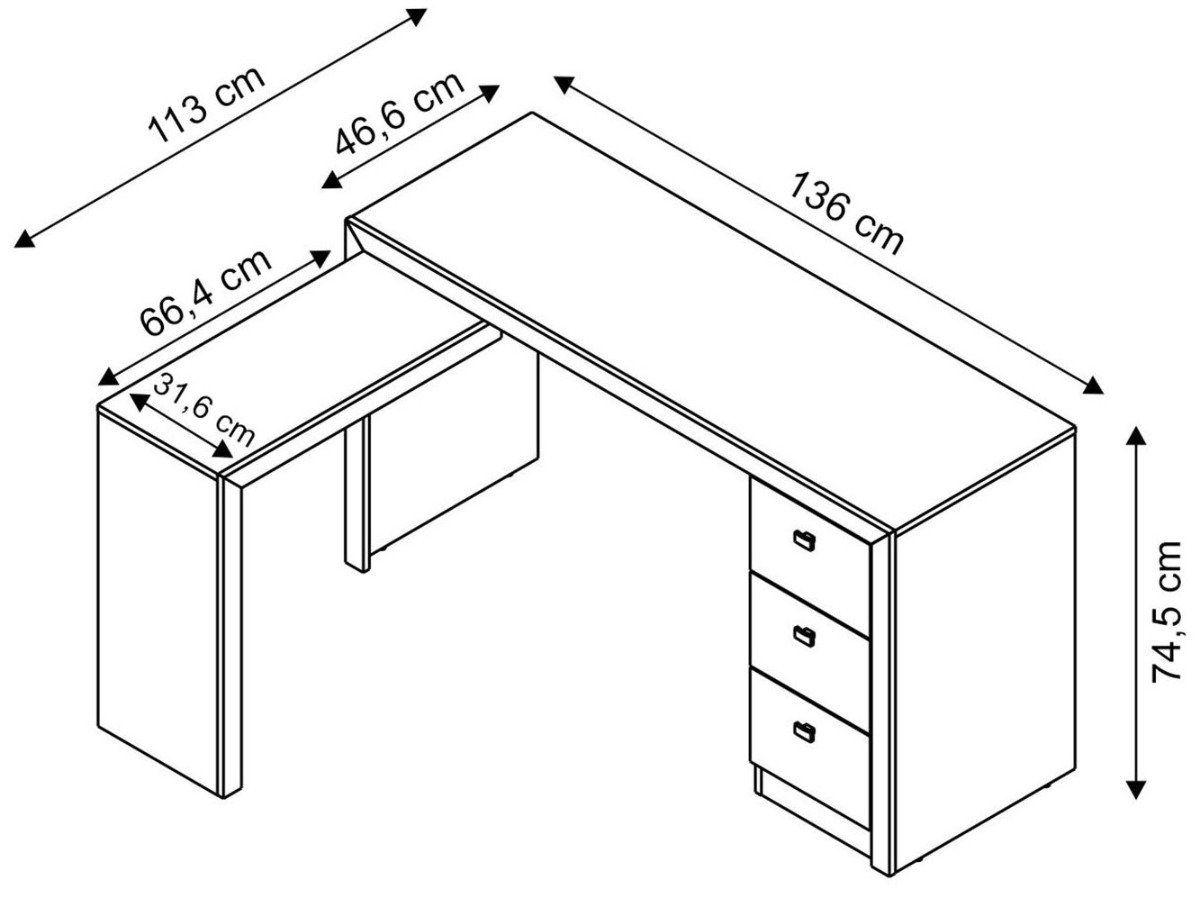 Mesa Home Office Computador Escrivaninha Escritório ME4101 - Tecno Mobili