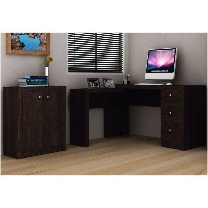 Ambiente para Home Office 03 Peças Tabaco - Tecno Mobili
