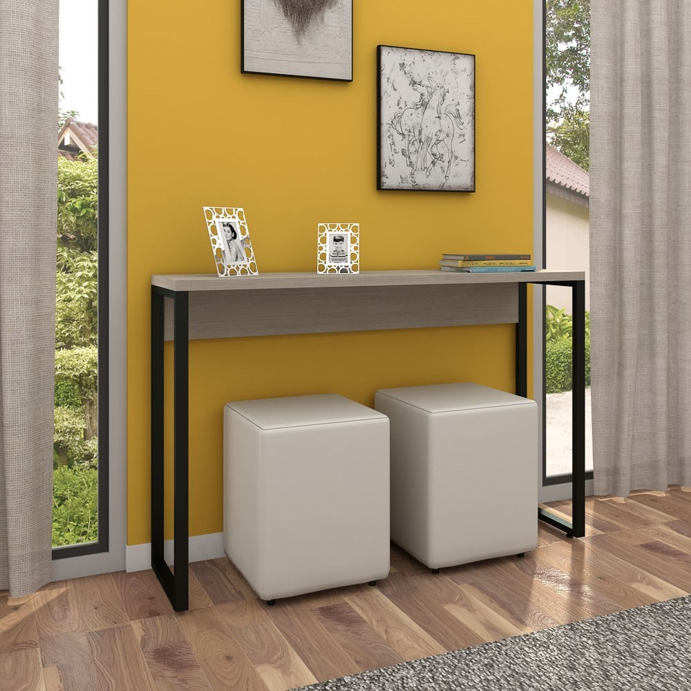 Aparador para Sala de Estar Studio Industrial M18 Carvalho Bruma - Mpozenato