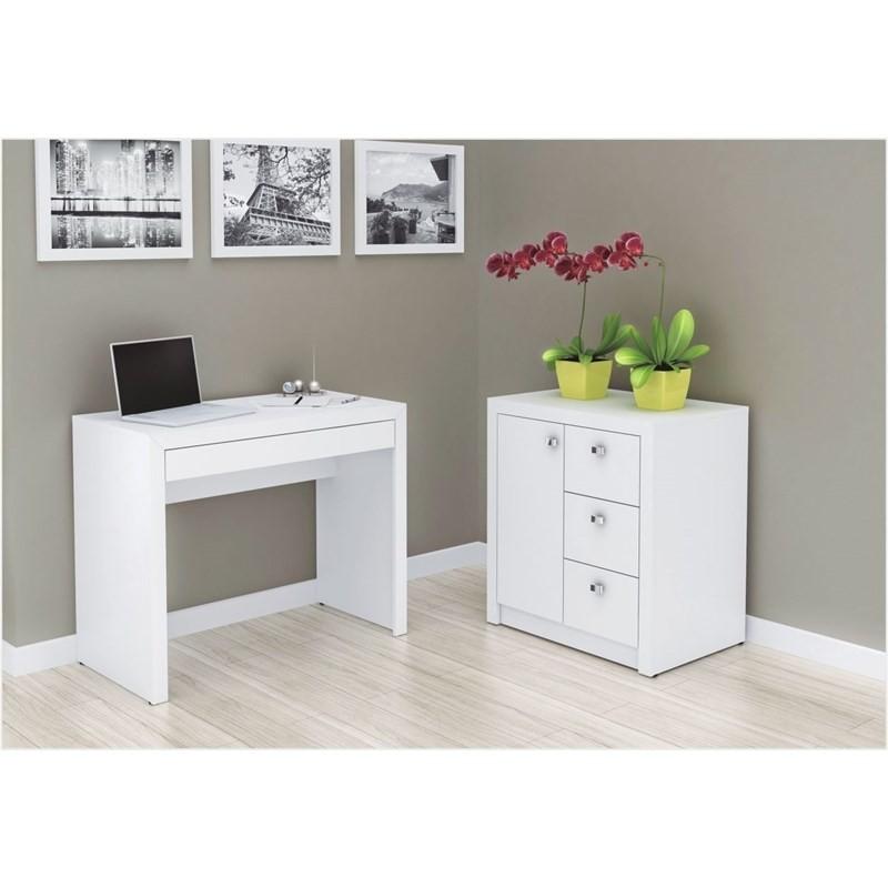 Armário 03 Gavetas e 01 Porta para Home Office ME4111 Branco - Tecno Mobili