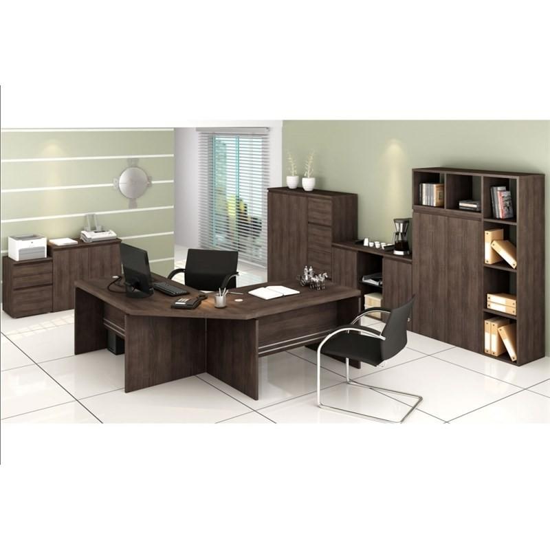 Armário Alto 2 Portas Office 91 cm Carvalho - Kappesberg