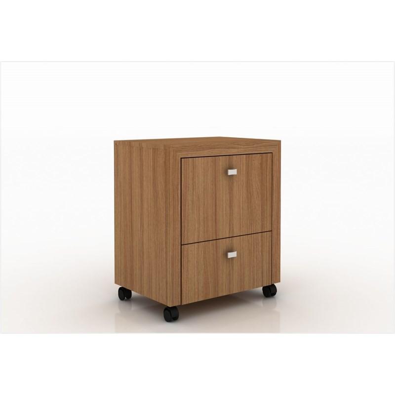 Armário para Home Office ME4112 com Rodízios Amendoa - Tecno Mobili
