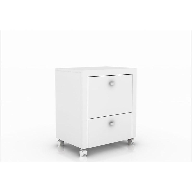 Armário para Home Office ME4112 com Rodízios Branco - Tecno Mobili