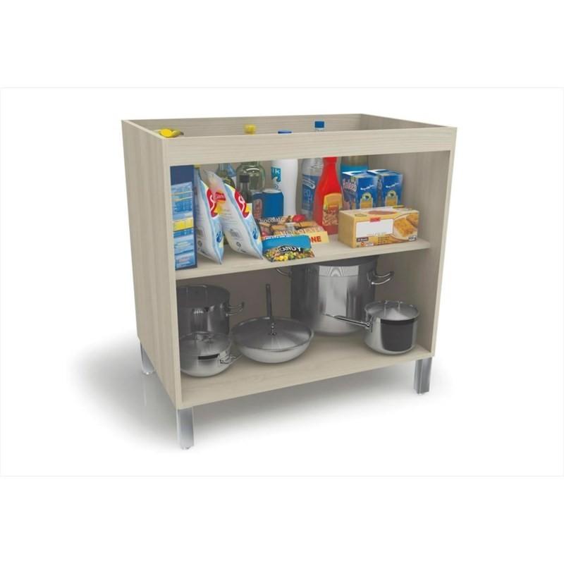 Balcão 02 Portas para Cozinha sem Tampo C656 Versatti Nacre - Kappesberg