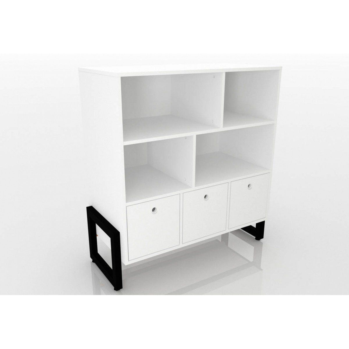 Balcão Buffet Drawer 03 Portas - Fit Mobel