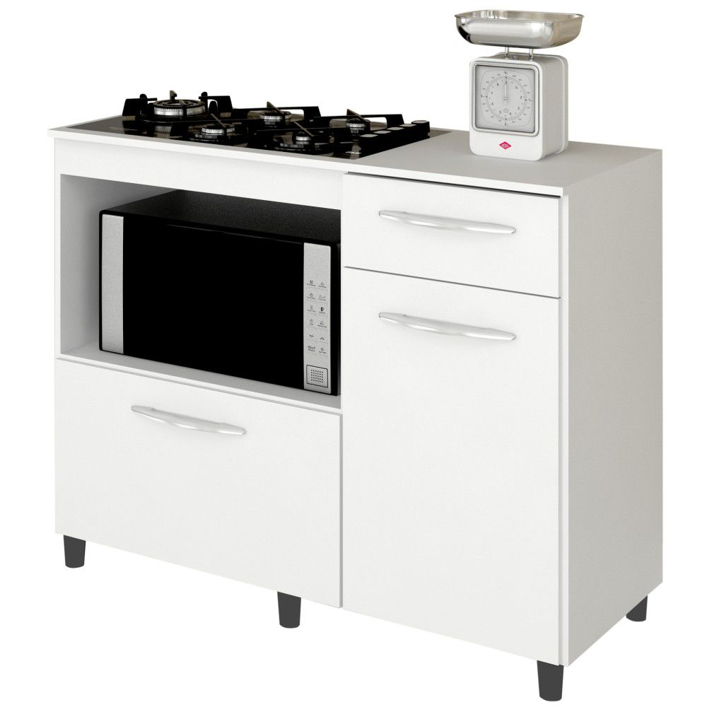 Balcão de Cozinha Mali para Cooktop e Forno Microondas - Lumil Móveis