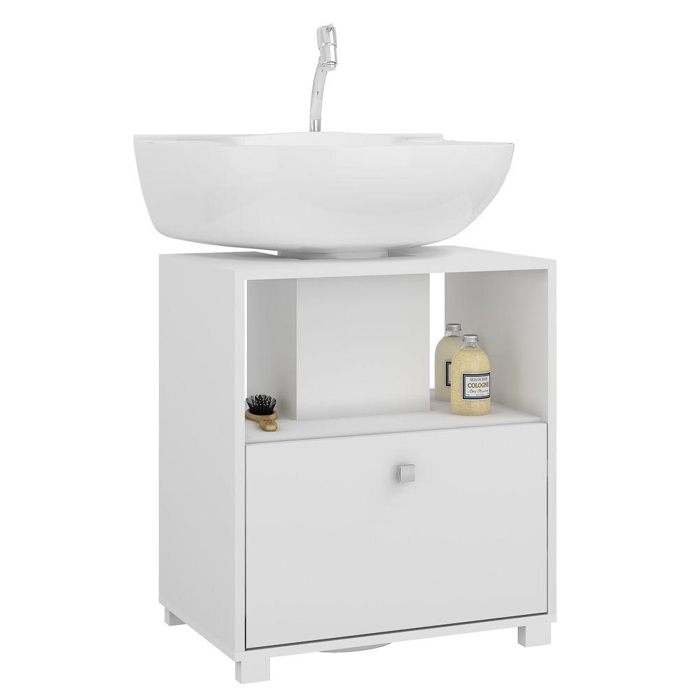 Balcão para Banheiro BBN 02 Branco - BRV