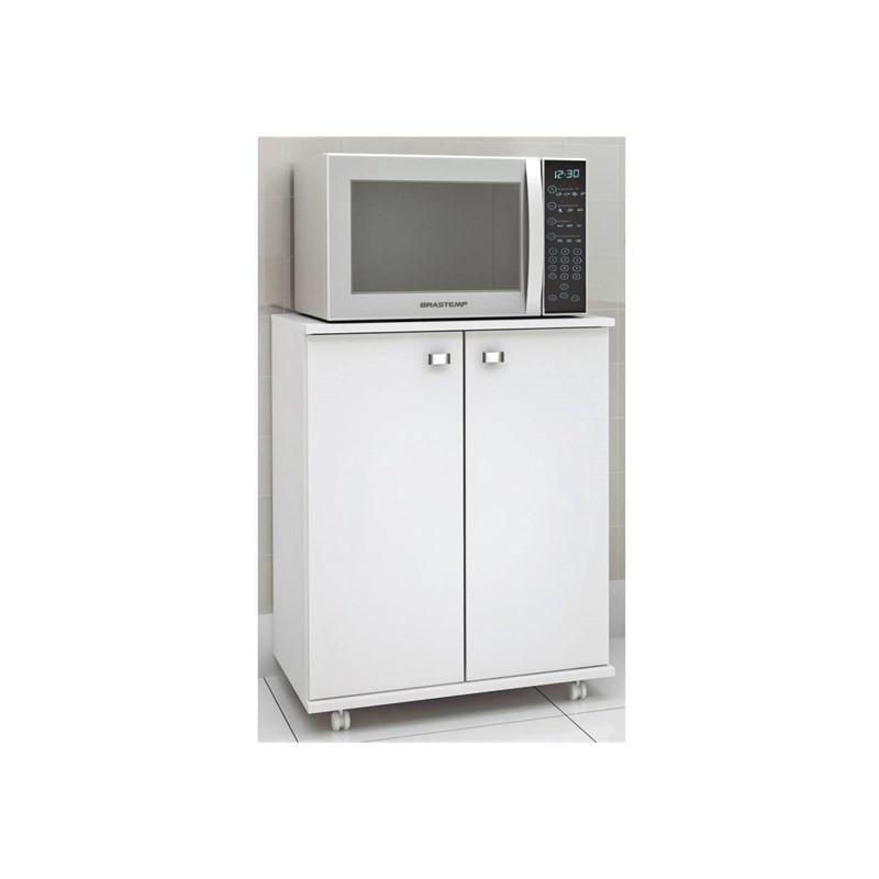 Balcão para Cozinha com Rodízios BL3300 Branco - Tecno Mobili