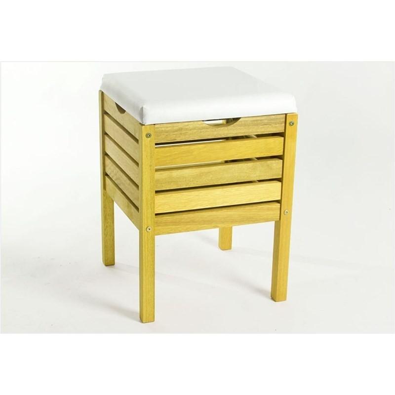 Banco Cesto Aquiles Stain Amarelo - Mão & Formão