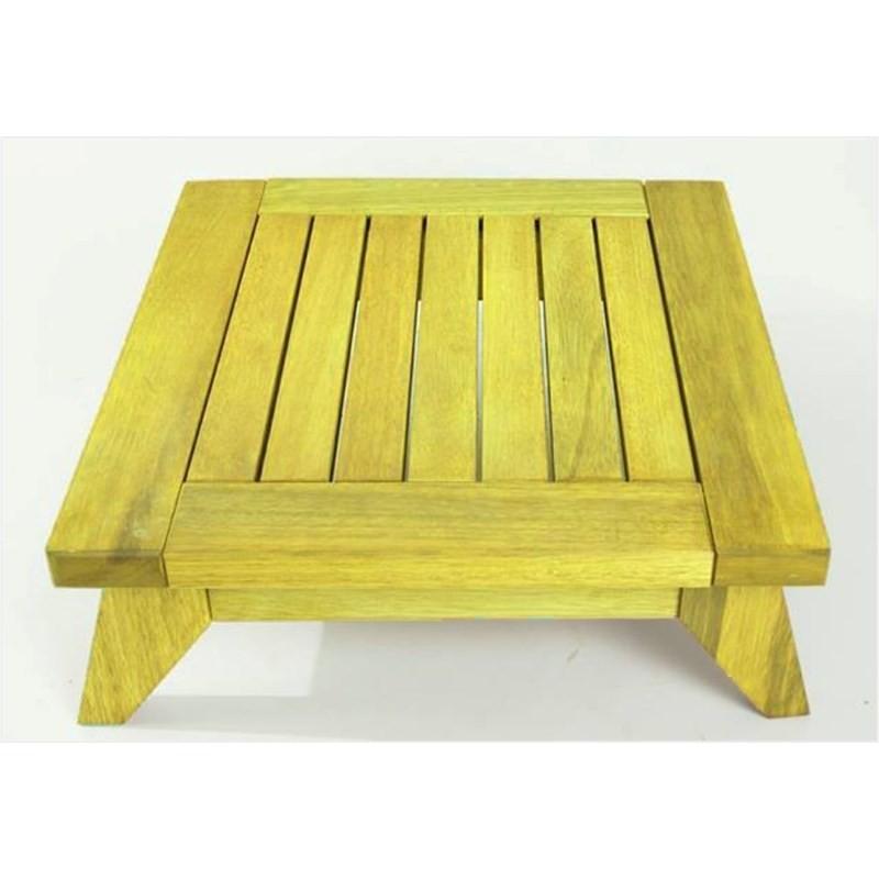 Banco Meditação Zen Stain Amarelo - Mão & Formão