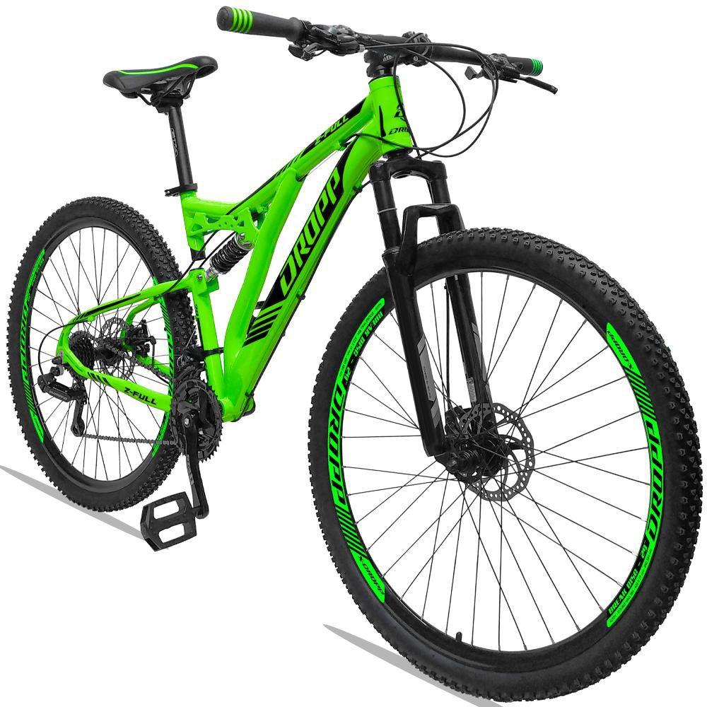 Bicicleta Aro 29 Quadro 19 Alumínio 21v Suspensão Freio Disco Hidráulico Z-FULL - Dropp