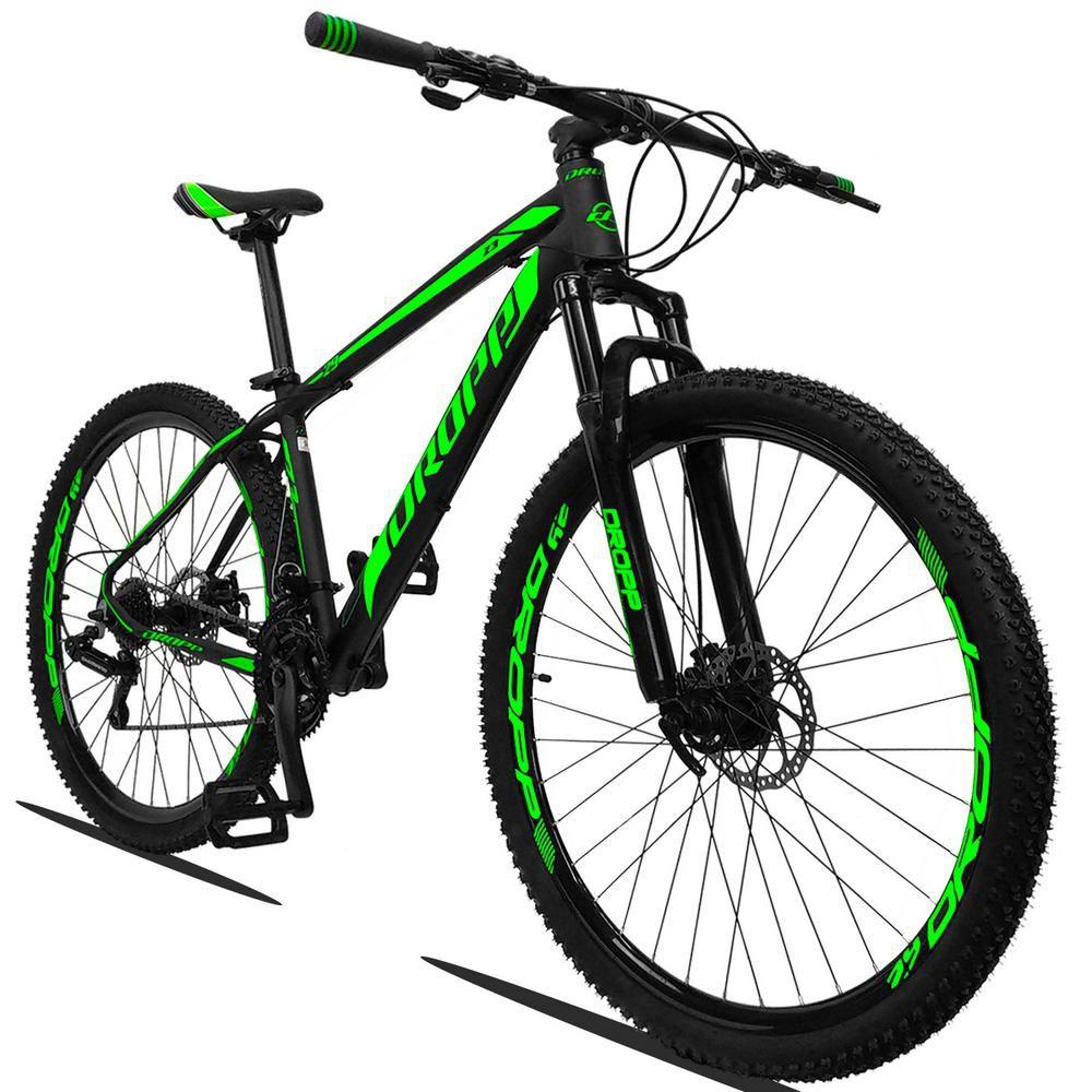 Bicicleta Quadro 19 Aro 29 Alumínio 21 Marchas Freio a Disco Z3 - Dropp