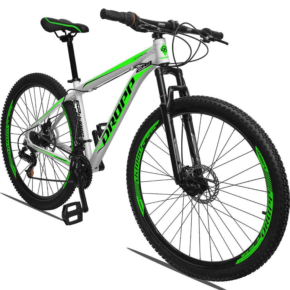 Bicicleta Quadro 19 Aro 29 Alumínio 21 Marchas Freio a Disco Mecânico - Dropp
