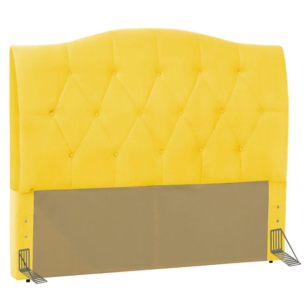 Cabeceira Cama Box Casal 140cm Colônia Corano Amarelo - D'Monegatto