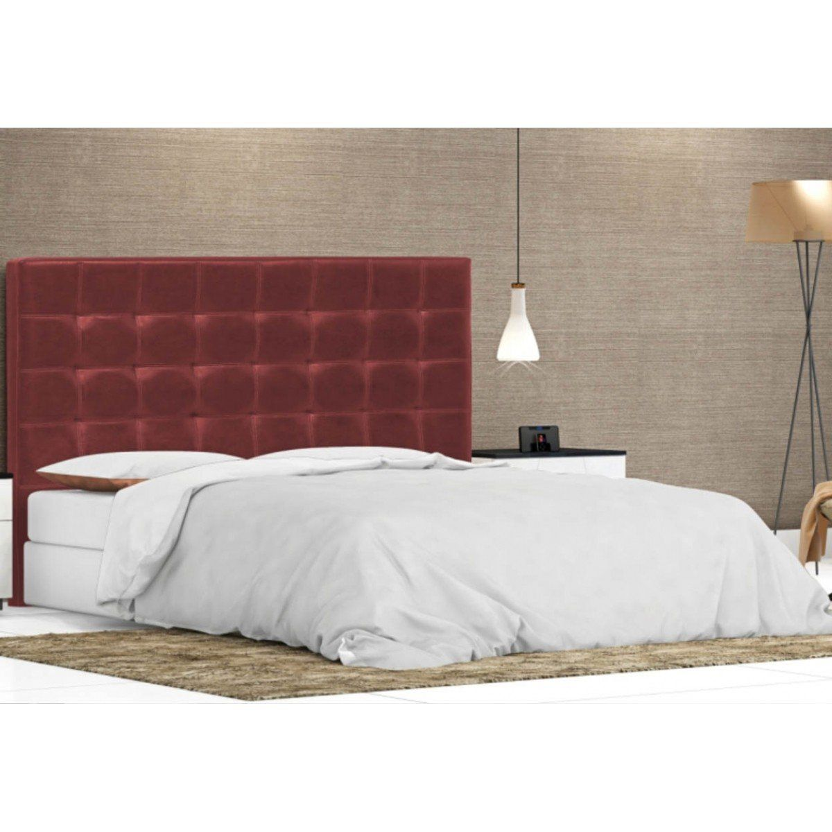 Cabeceira Cama Box Casal King Londres 195cm - Perfan