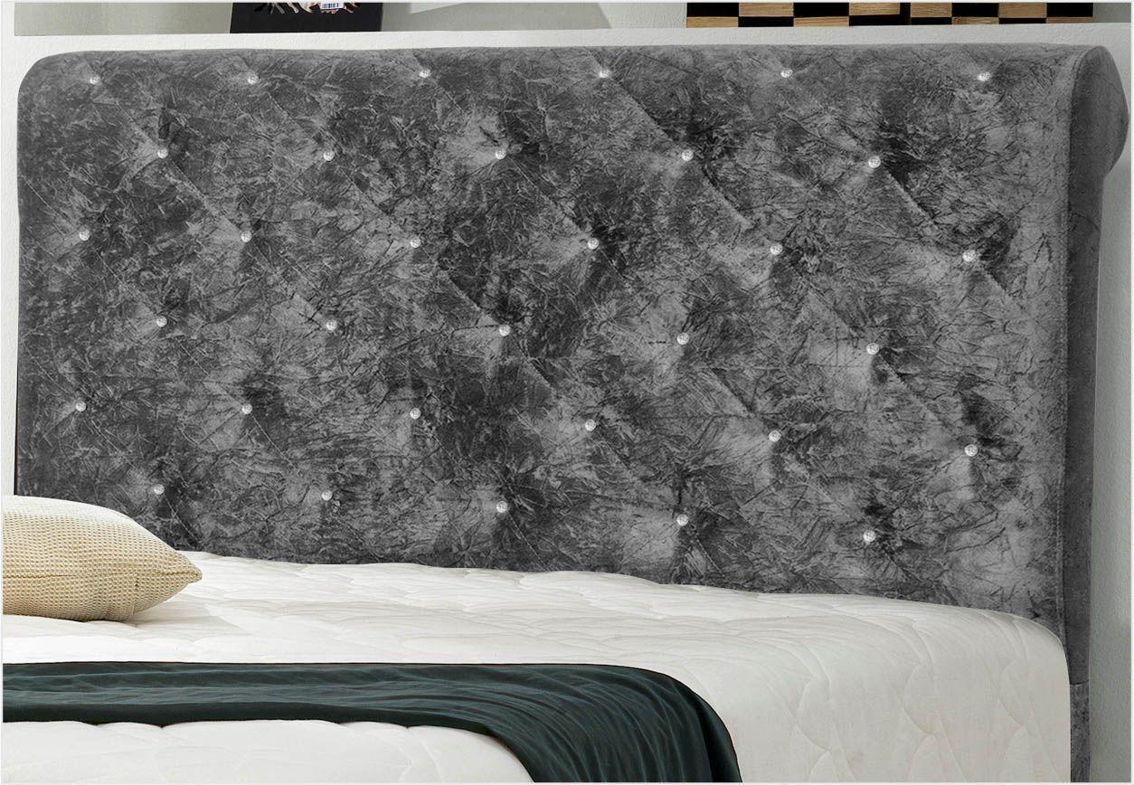 Cabeceira Casal Queen 160 cm Buona Notte Suede Amassado - D'Monegatto