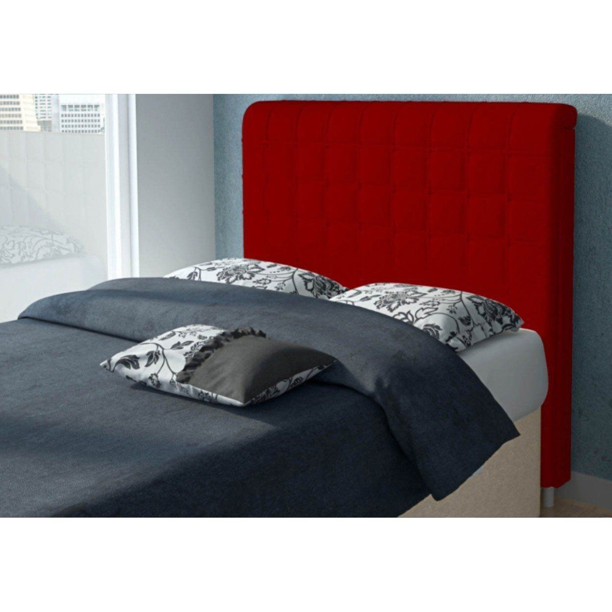 Cabeceira Para Cama Casal Box 140 cm Califórnia - JS Móveis