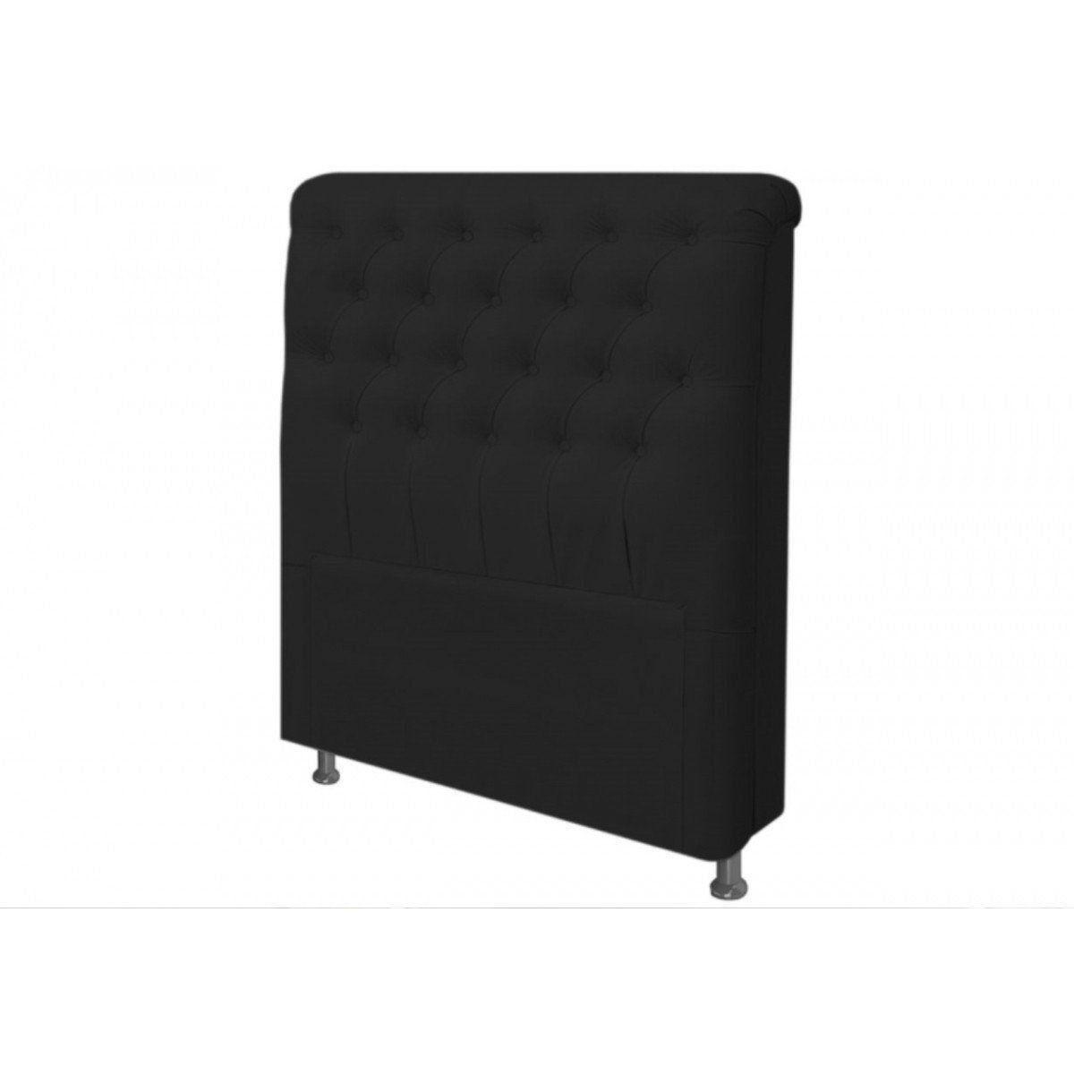 Cabeceira Paris Para Cama Box Solteiro 90 cm Corino - JS Móveis