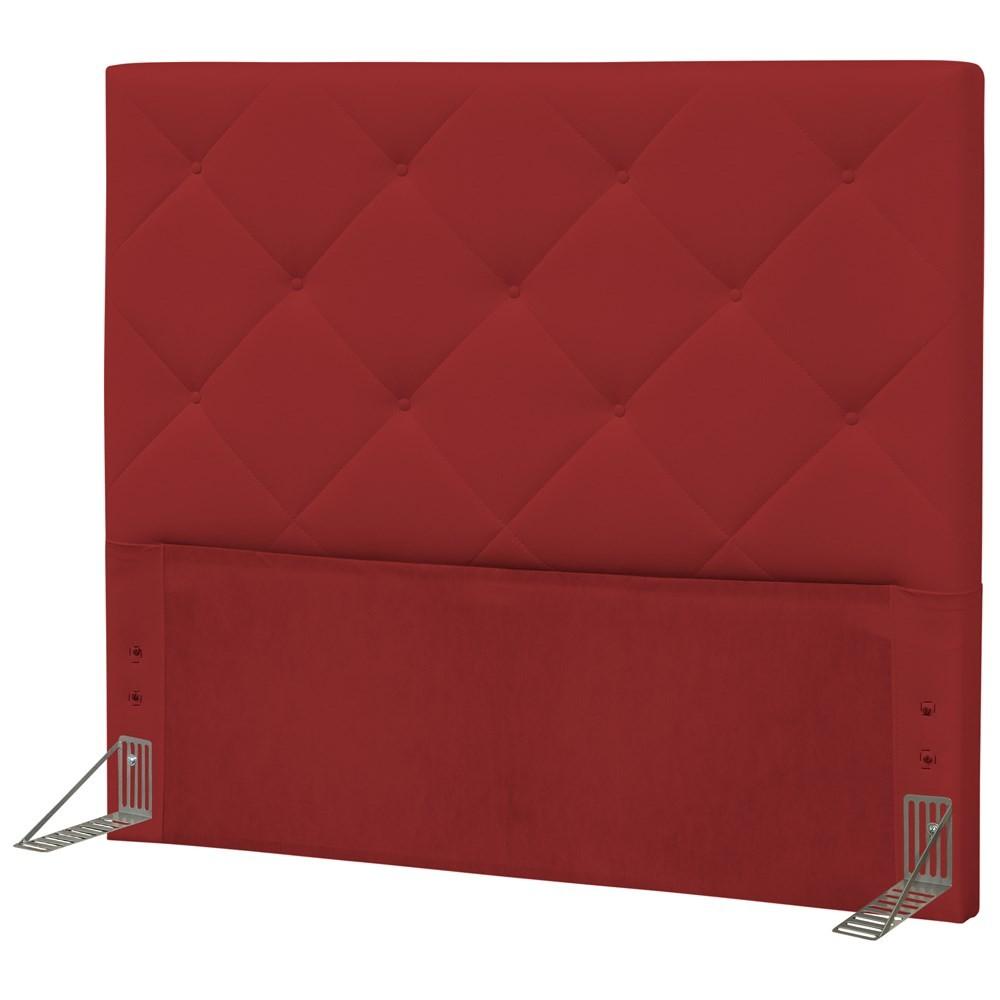 Cabeceira Quarto Casal 145cm Oásis Corano Vermelho - D'Monegatto