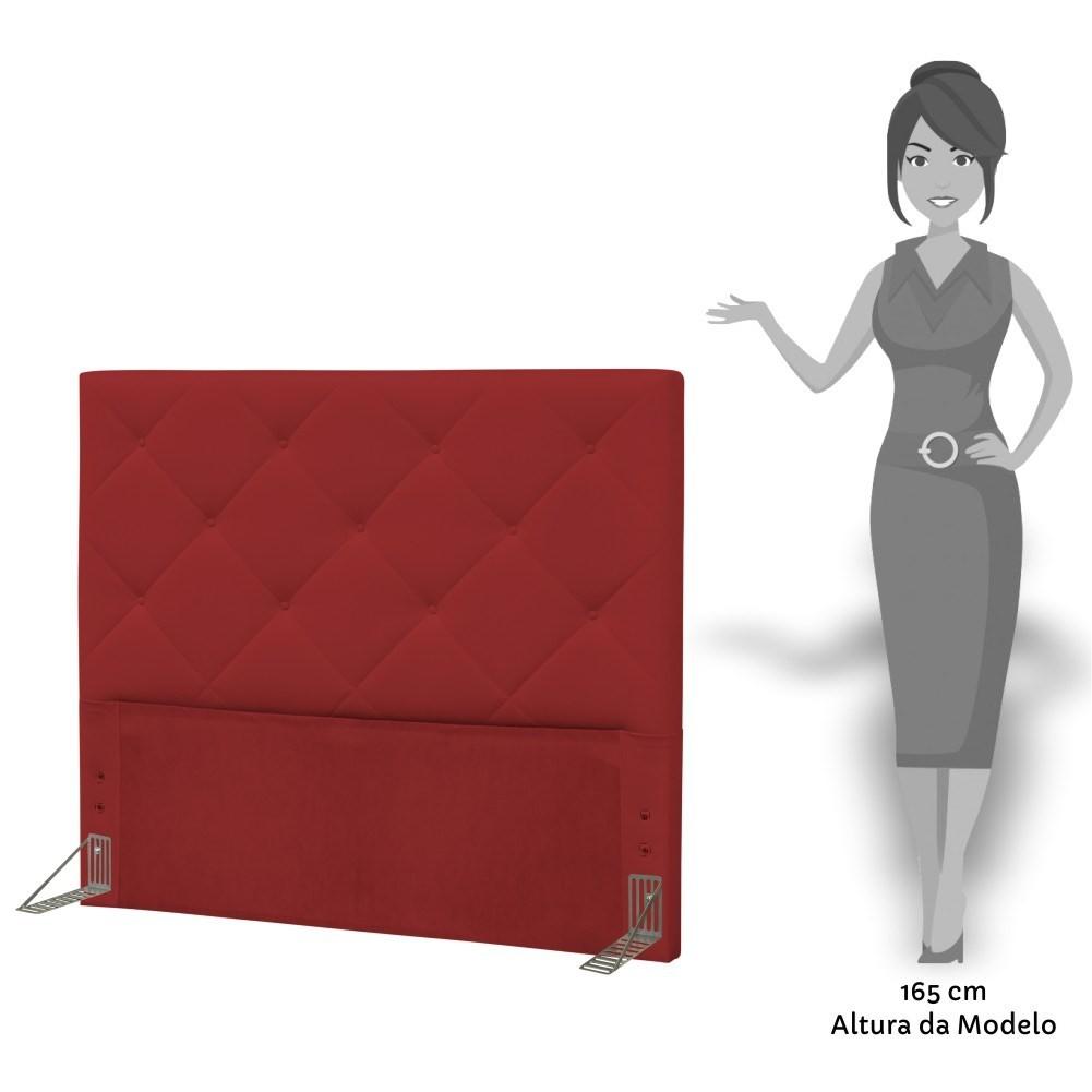 Cabeceira Quarto Casal 140cm Oásis Corano Vermelho - D'Monegatto