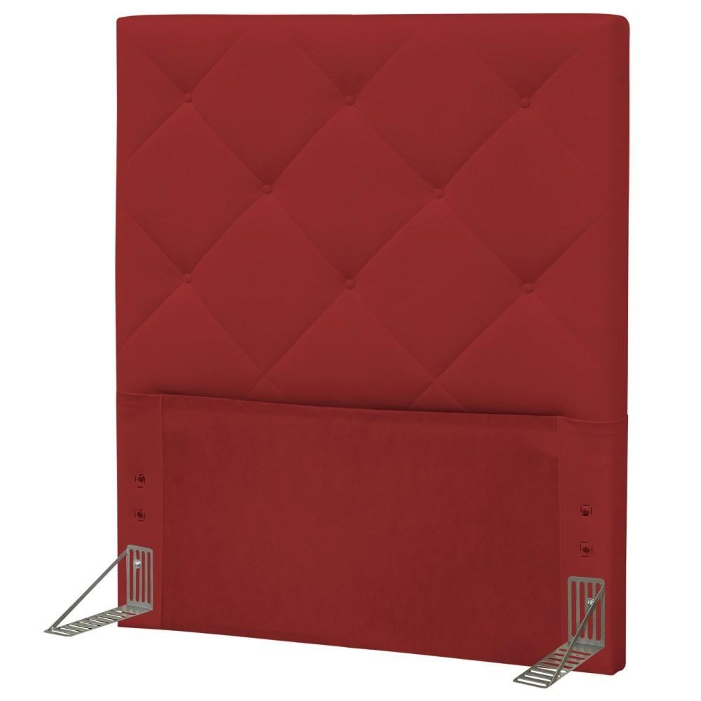 Cabeceira Solteiro 90cm Oásis Corano Vermelho - D'Monegatto