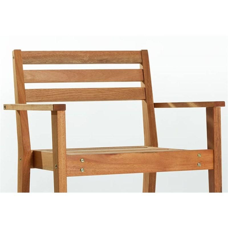 Cadeira com Braços Quarter Jatobá - Mão & Formão