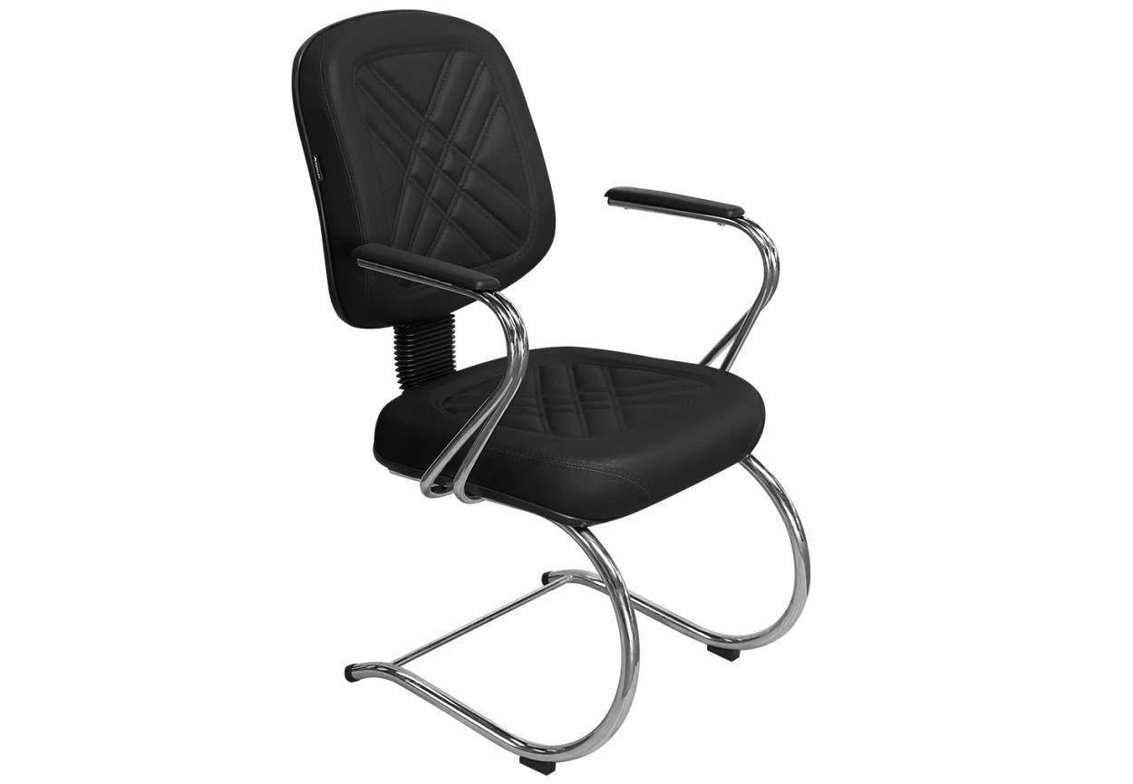 Cadeira de Escritório Diretor PD-05SCBC Fixa Base e Pés Cromados - Pethiflex