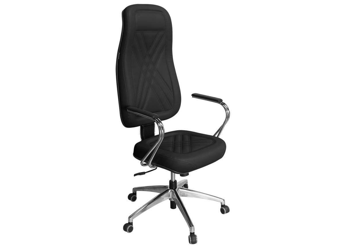 Cadeira de Escritório Presidente PP-01GCBC Giratória Cromada - Pethiflex