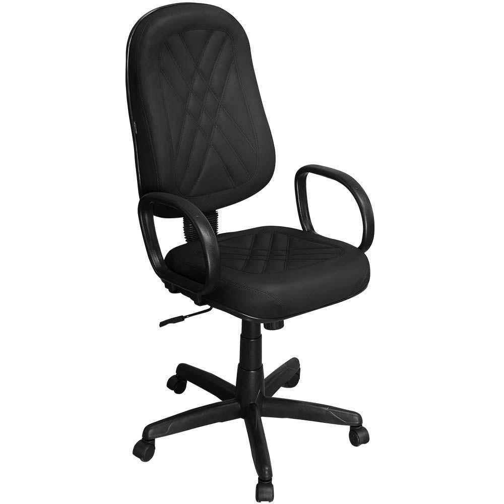 Cadeira de Escritório PP02 Presidente Giratória com Costura - Pethiflex