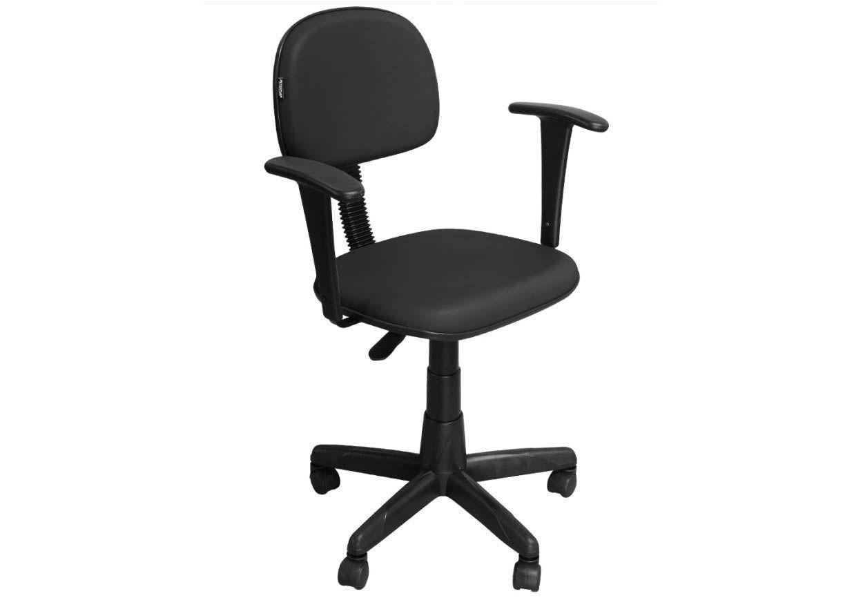 Cadeira de Escritório Secretária  CS-02BT Giratória Braço Fixo - Pethiflex