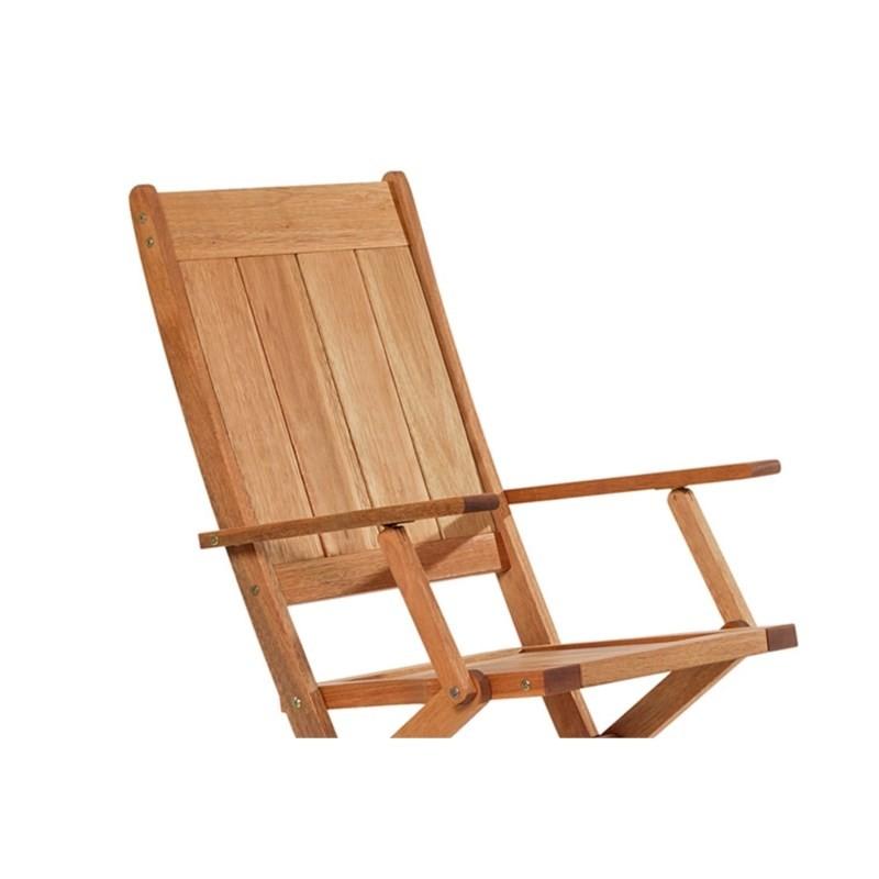 Cadeira Dobrável com Braços Acqualung Jatobá - Mão & Formão
