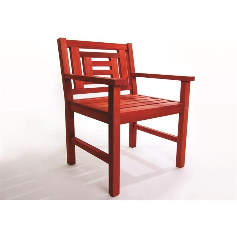 Cadeira Echoes Stain Vermelho - Mão & Formão