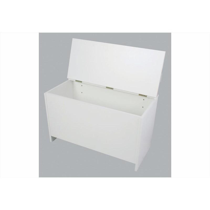 Caixa de Lenha com Encosto Branco - Completa Moveis
