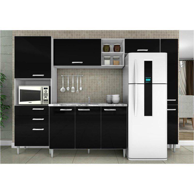 Cozinha Compacta 05 Peças Natalia Balcão Paneleiro - Poquema