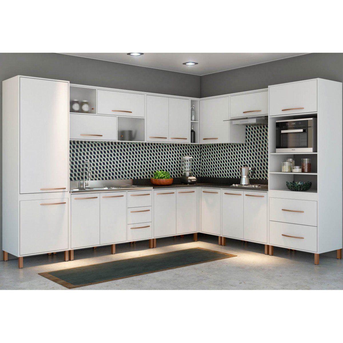 Cozinha Modulada Baunilha 10 Peças - Albatroz