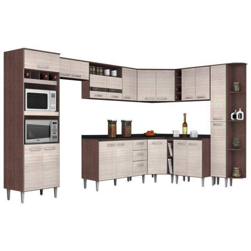 Cozinha Modulada Bruna 13 Módulos - Poquema