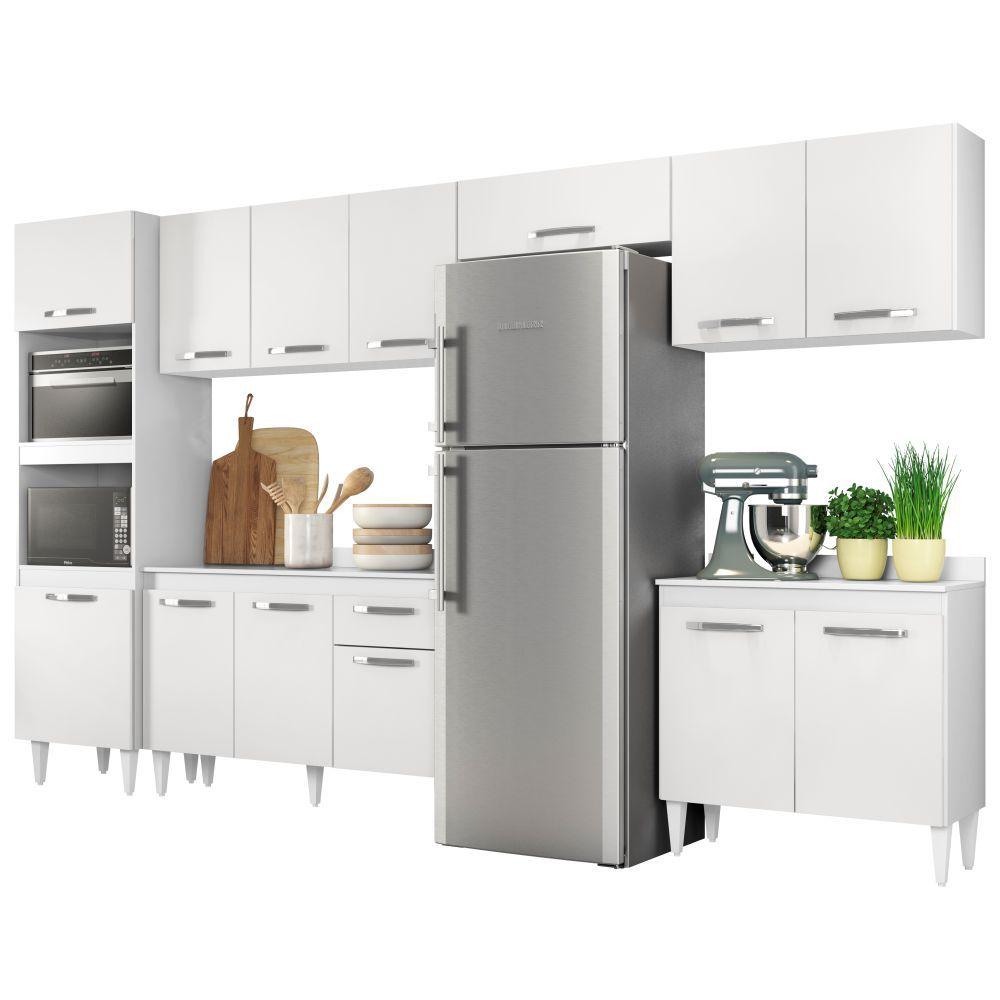 Cozinha Modulada 6 Módulos Composição 1 - Lumil Móveis