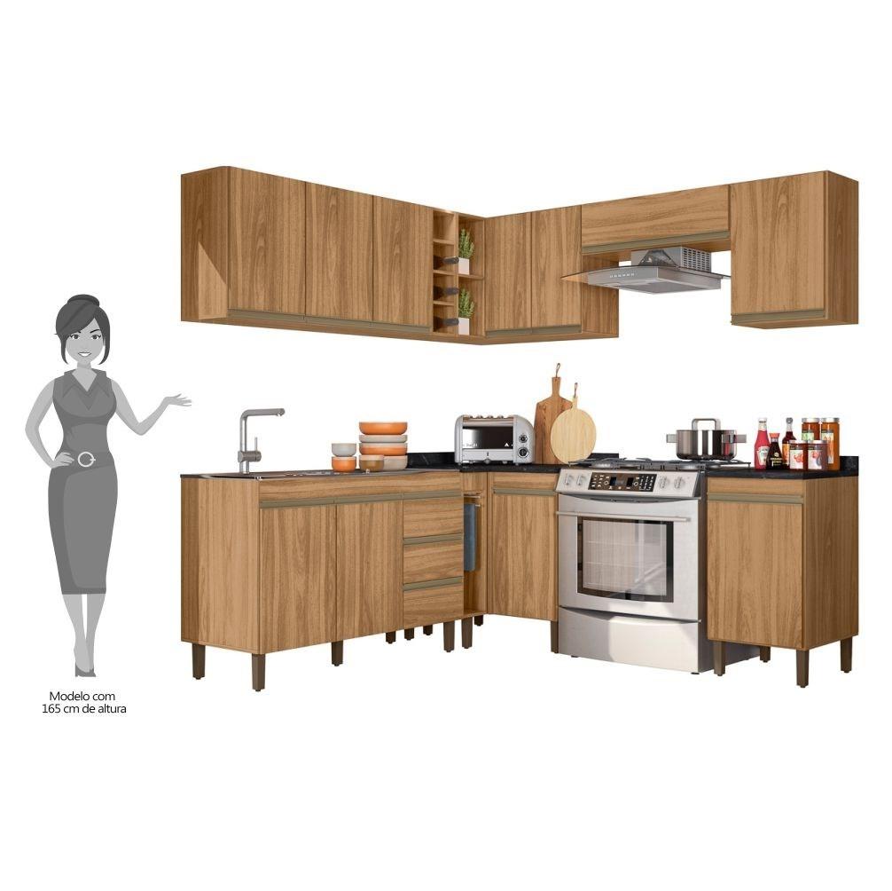 Cozinha Modulada Karen 10 Módulos 5600 P14 Nature - Mpozenato