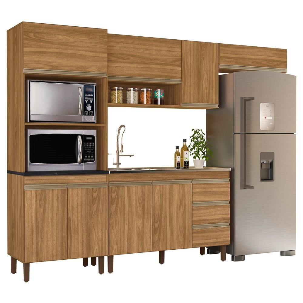 Cozinha Modulada Karen 4 Módulos 5550 P14 Nature - Mpozenato