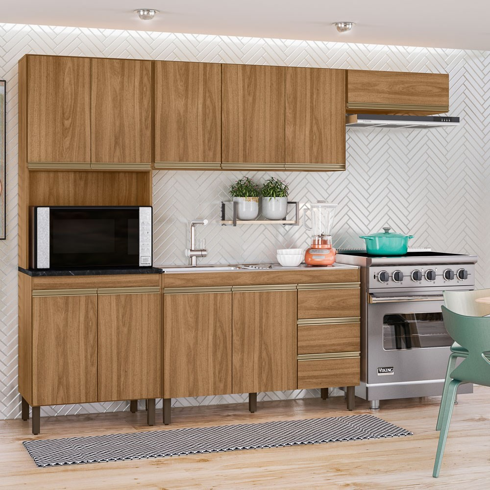 Cozinha Modulada Karen 4 Módulos 7400 P14 Nature - Mpozenato