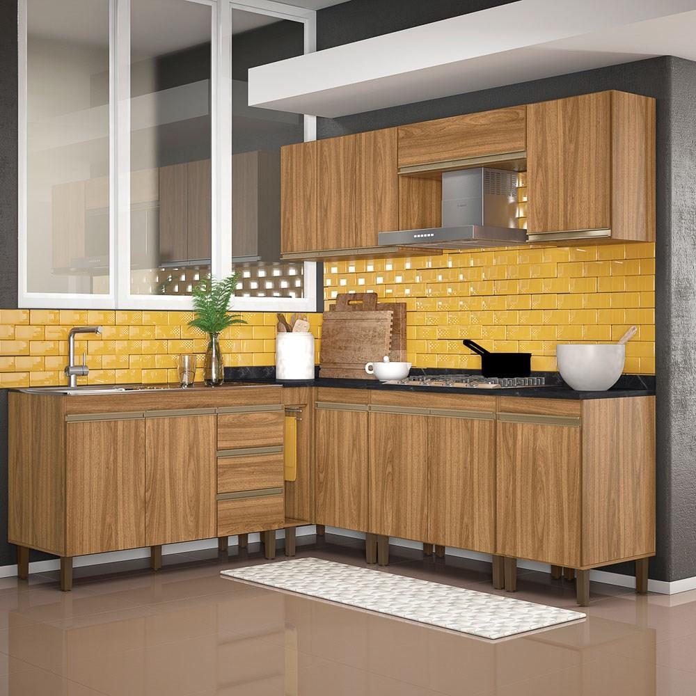 Cozinha Modulada Karen 8 Módulos 7700 P14 Nature - Mpozenato