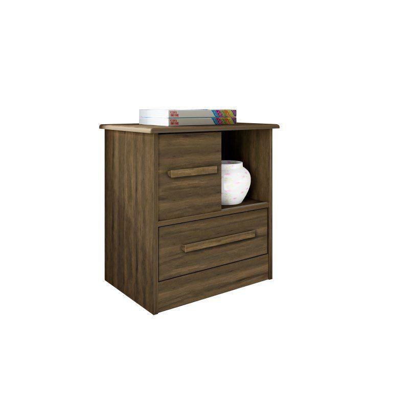 Mesa de Cabeceira Stilo 1 Porta 1 Gaveta - Albatroz