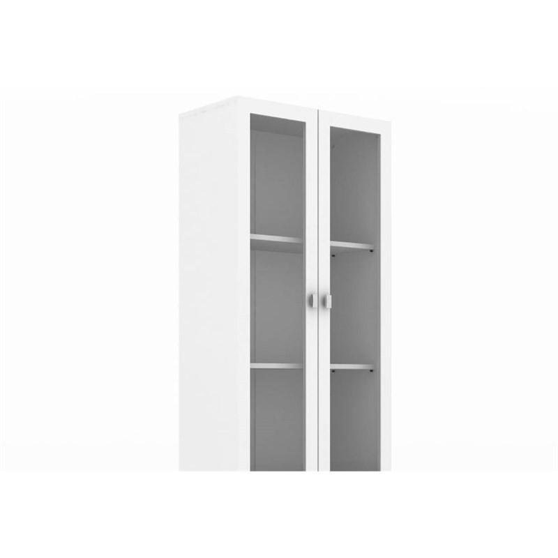Cristaleira com 02 Portas de Vidro ME4114 Branco - Tecno Mobili